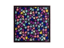 Шелковый платок Neon, тёмно-фиолетовый фото