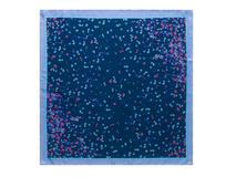 Шелковый платок Tourbillon, тёмно-синий фото