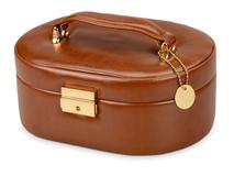 Шкатулка для драгоценностей с дорожным футляром, коричневый фото