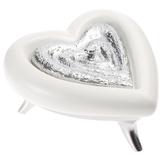 Шкатулка Сердце, бело-серебристая фото