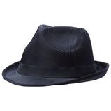 Шляпа Gentleman, черная с черной лентой фото