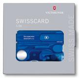 Швейцарская карта Victorinox SwissCard, синяя подарочная коробка, 13 функций фото