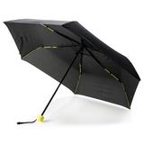 Складной механический зонт, 21, чёрный/ зелёный фото