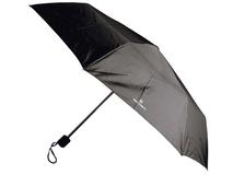 Зонт складной автоматический, полиэстр 100%, черный фото