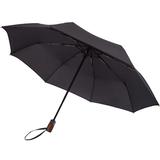 Складной зонт Wood Classic с прямой ручкой, черный фото