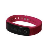 """Смарт браслет (""""умный браслет"""") Portobello Trend, Health, электронный дисплей, браслет-силикон, 195x16x13 мм, красный фото"""