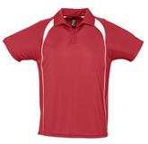 Спортивная рубашка поло Palladium 140 красная с белым фото