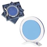 Стела наградная Round в подарочной упаковке, прозрачный, синий фото