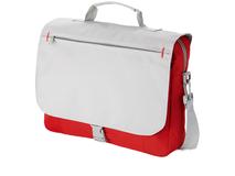Конференц сумка для документов Pittsburgh, красный/ серебряный/серый фото