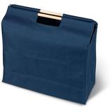 Сумка для покупок, деревянные ручки, синий фото