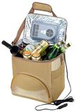 Сумка-холодильник с питанием от прикуривателя, коричневая фото