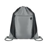 Сумка-мешок, отверстие для наушников, серый/темно-серый фото