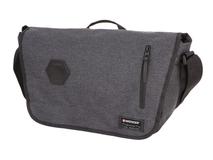 Сумка наплечная с отделением для ноутбука 13, серый фото