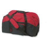 Сумка спортивная, фронтальный карман, красный/черный фото