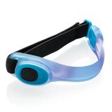 Светящаяся повязка на руку для бега, голубая фото