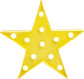 Светильник светодиодный «Звезда», желтый фото