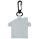 Светоотражатель с фонариком на карабине Дом, белый фото