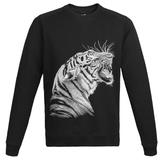 Свитшот мужской Like a Tiger, черный фото