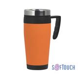 Термокружка Австралия, покрытие soft touch, 0,4 л., оранжевый фото