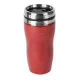 Термокружка Promo, 450 мл, металл/пластик, красная фото