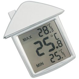Термометр на присоске Дом, серый фото