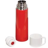 Термос GIORGIO, 500 мл, белый/ красный фото