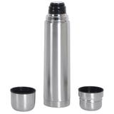 Термос с двумя кружками, серый фото