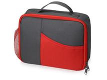Изотермическая сумка-холодильник Breeze для ланч бокса, серый, красный фото