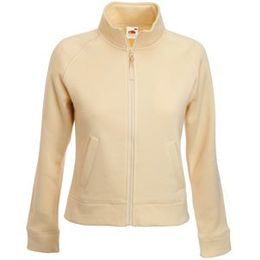 Толстовка Lady-Fit Sweat Jacket, цвет слоновой кости фото