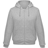 Толстовка мужская Hooded Full Zip серый меланж, серый фото