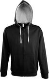 Толстовка мужская Soul Men 290 с контрастным капюшоном, черная фото