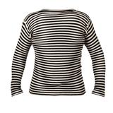 Толстовка  Тельняшка ,черный в полоску_S,  50% хлопок, 50% шерсть,  450  г/м2 фото