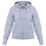 Толстовка женская Hooded Full Zip серый меланж, серебряный/серый фото
