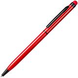 Ручка металлическая TOUCHWRITER  BLACK со стилусом, красный/черный фото