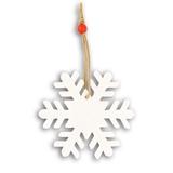 Украшение на елку Снежинка, белый фото