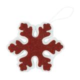 Украшение новогоднее SNOWFLAKE из фетра, кирпичный/белый фото