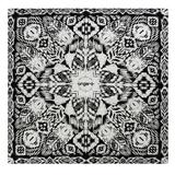 Платок шейный UNGARO Goccia, черный, белый фото