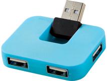 USB разветвитель на 4 порта Gaia, синий фото