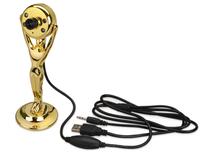 Веб-камера в виде статуэтки Оскар с подсветкой, золотой фото