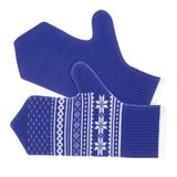 Варежки Скандик, синие фото