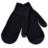Варежки сенсорные In touch, черный, М, акрил 100%. шеврон фото