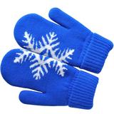Варежки Сложи снежинку!, синий, М фото