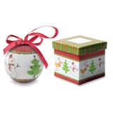 Елочный шар в коробке Снеговик и Елка, многоцветный фото
