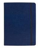 Записная книжка в клетку на резинке Адъютант Freenote, синяя фото