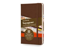 Записная книжка Voyageur, коричневый фото