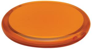 Зеркальце Smile круглое, оранжевое фото