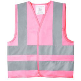 Жилет детский светоотражающий Glow, розовый фото