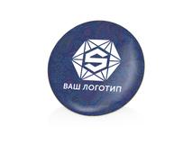 Значок металлический Круг, золотой фото