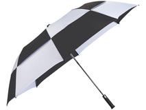 Зонт складной полуавтомат, купол с сегментами Norwich, черный фото