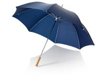 """Зонт трость механический Karl 30"""" с прямой деревянной ручкой, темно-синий фото"""